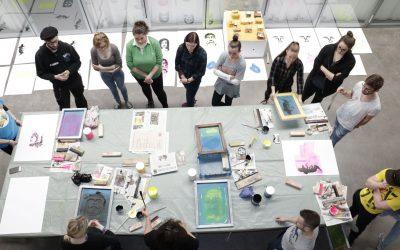 """Siebdruck-Workshop zum Thema """"In den Augen des Anderen"""""""