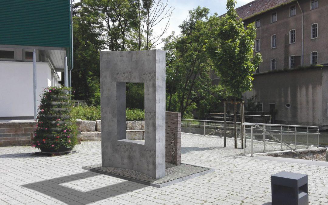 Denkmal für den Widerstandskämpfer Georg Elser