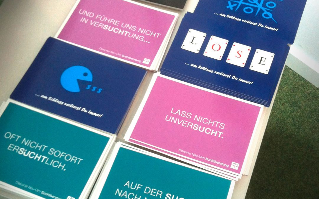 Neue Key-Visuals für die Suchtberatung Neu-Ulm