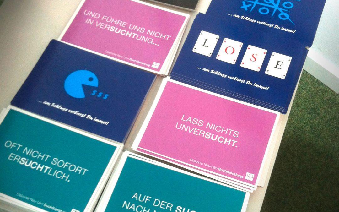 New Key-Visuals for the addiction consultation Neu-Ulm