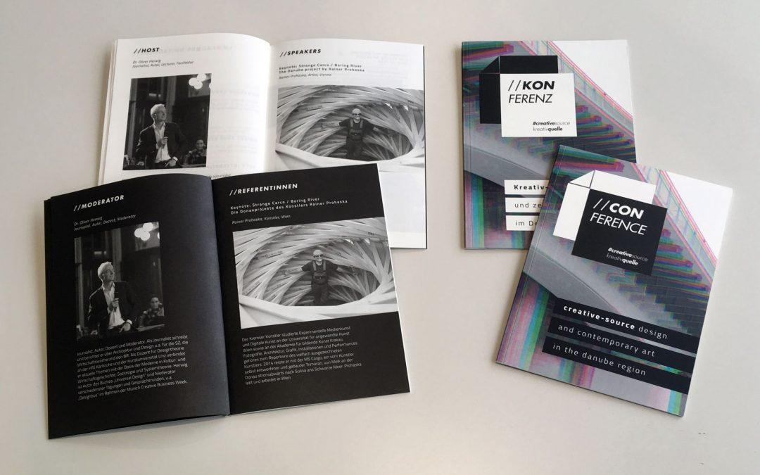 """Corporate-Design für die Fachtagung Creative Source – Kreativ-Quelle: """"Design und zeitgenössische Kunst im Donauraum"""""""